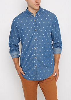 Palm Leaf Chambray Shirt