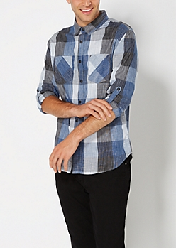 Crosshatch Buffalo Check Button Down
