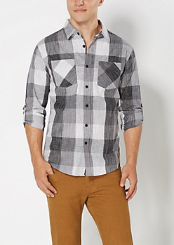 Buffalo Check Crosshatch Button Down