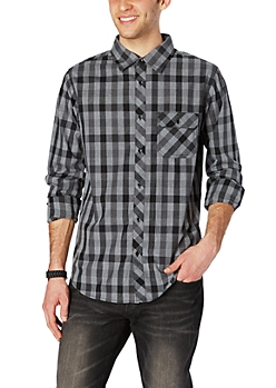 Black Buffalo Check Button Down