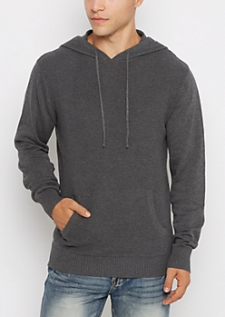 Charcoal Thermal Hoodie Sweater