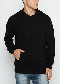 Thermal Knit Long Length Raglan Hoodie