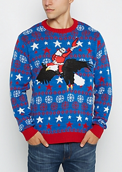 All-American Santa Ugly Christmas Sweater