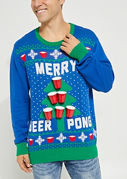 Merry Beer Pong Sweater