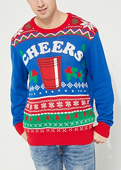 Cheers Red Cup Holiday Sweater