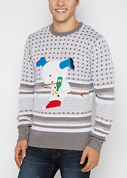 Party Hard Snowman Sweater