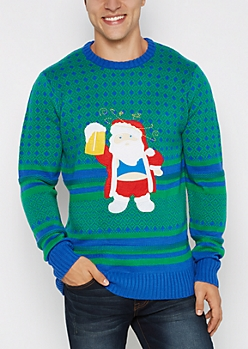 Santa Big Belly Ugly Christmas Sweater