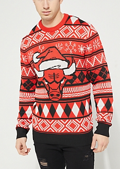 Chicago Bulls Argyle Holiday Sweater