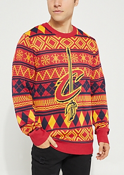 Cleveland Cavaliers Argyle Holiday Sweater