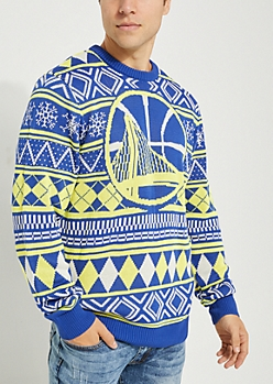 Golden State Warriors Argyle Holiday Sweater