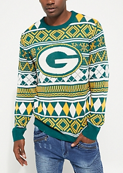 Green Bay Packers Argyle Holiday Sweater