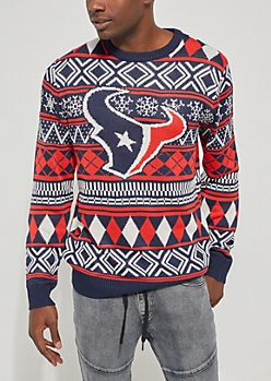 Texans Argyle Holiday Sweater