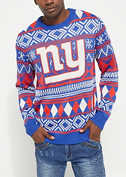 New York Giants Argyle Holiday Sweater