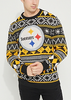 Steelers Argyle Holiday Sweater