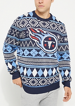 Tennessee Titans Argyle Holiday Sweater