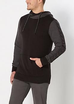 Arrow Knit Sweater Hoodie