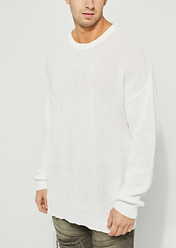 Cream Drop Shoulder Sweater