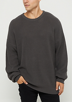 Charcoal Gray Heavy Knit Sweater