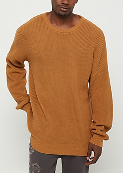 Camel Heavy Knit Sweater