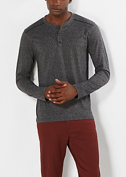 Charcoal Gray Henley Top