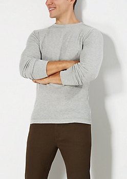 Classic Heather Gray Thermal Top