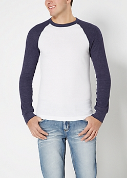 Navy Thermal Baseball Top