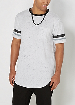 Gridiron Speckled Long Length Tee
