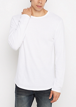 White Thermal Long Length Shirt