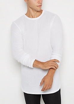 White Long Length Thermal Top