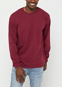 Burgundy Long Sleeve Tee