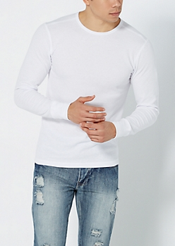 Essential White Knit Thermal Top