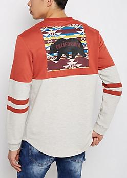 California Athletic Drop Yoke Sweatshirt