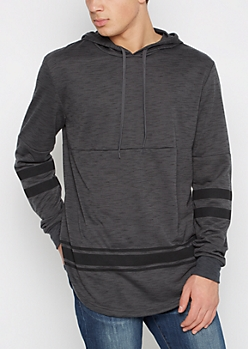 Gray Space Dyed Football Hoodie