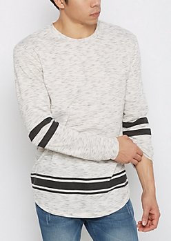 White Space Dyed Football Sweatshirt
