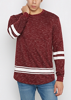 Burgundy Space Dyed Football Sweatshirt