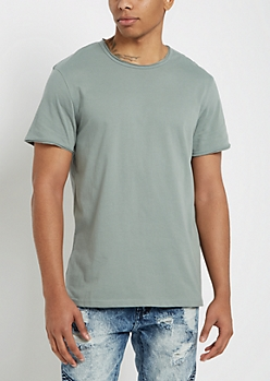 Pewter Raw Edge Tee