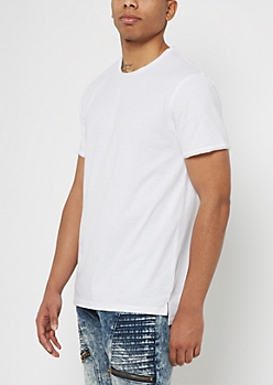 White Raw Edge Essential Tee