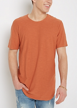 Burnt Orange Long Length Essential Tee
