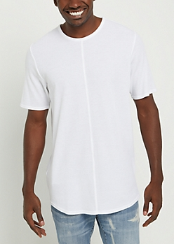 White Thermal Round Hem Tee