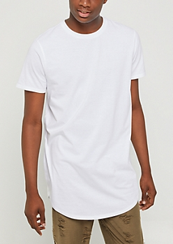 White X-Treme Length Tee