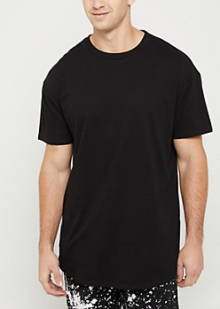 Black Relaxed Fit Short Sleeve Tee