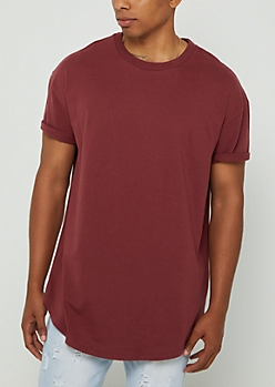 Burgundy Relaxed Fit Short Sleeve Tee