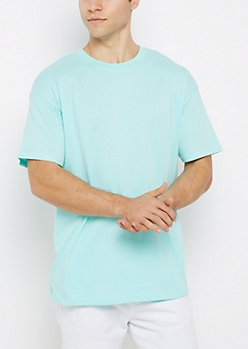 Sky Blue Relaxed Fit Essential Tee