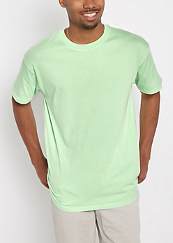 Light Green Relaxed Fit Essential Tee