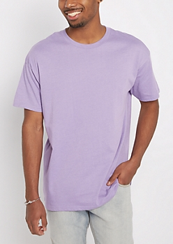 Light Purple Relaxed Fit Tee