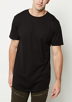 Black Scoop Neck Essential Tee