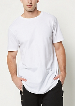 White Scoop Neck Essential Tee
