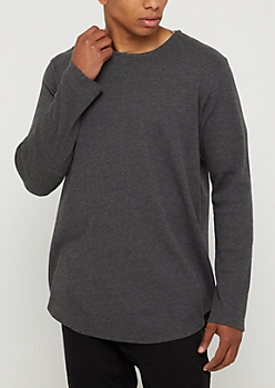 Charcoal Gray Thermal Long Sleeve Shirt