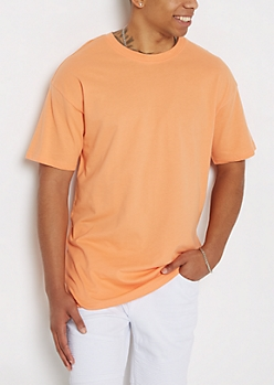 Coral Relaxed Fit Essential Tee