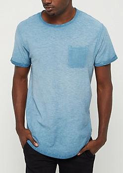 Blue Washed Pocket Tee
